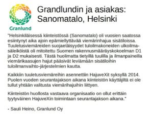 HajuveX-referenssi, Granlund